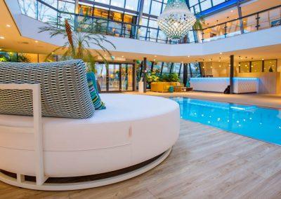 Rundes Lounge-Bett